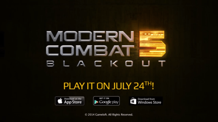 Gameloft publishes Stunning Modern Combat : Blackout Trailer, Game launches on July 24