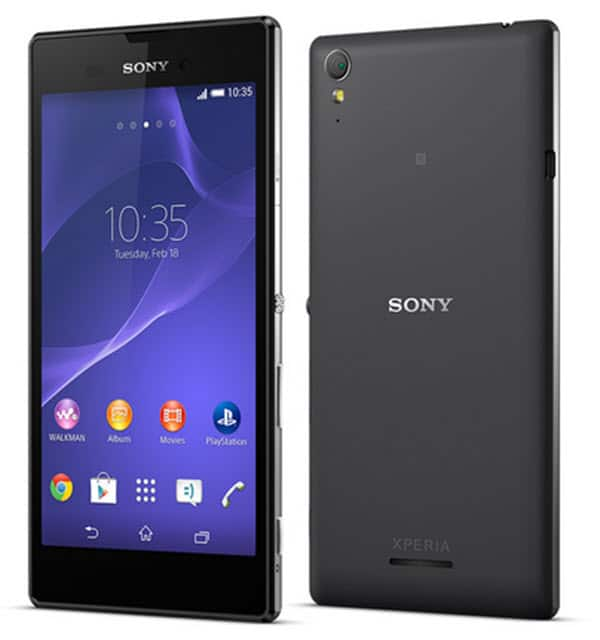 Sony Xperia T3 Front and Back Press