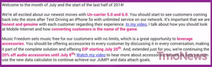 T-Mobile EIP News about Accessories