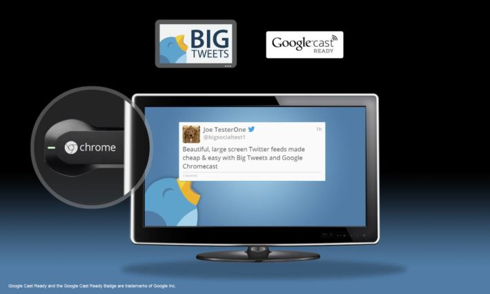 Big Tweets Lets You Cast Your Twitter Feeds To The Big Screen Via Chromecast