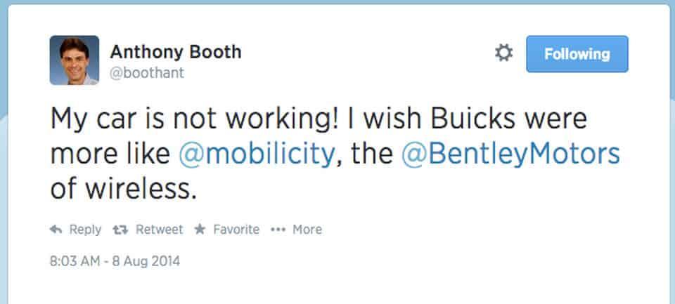 Anthony Booth Tweet