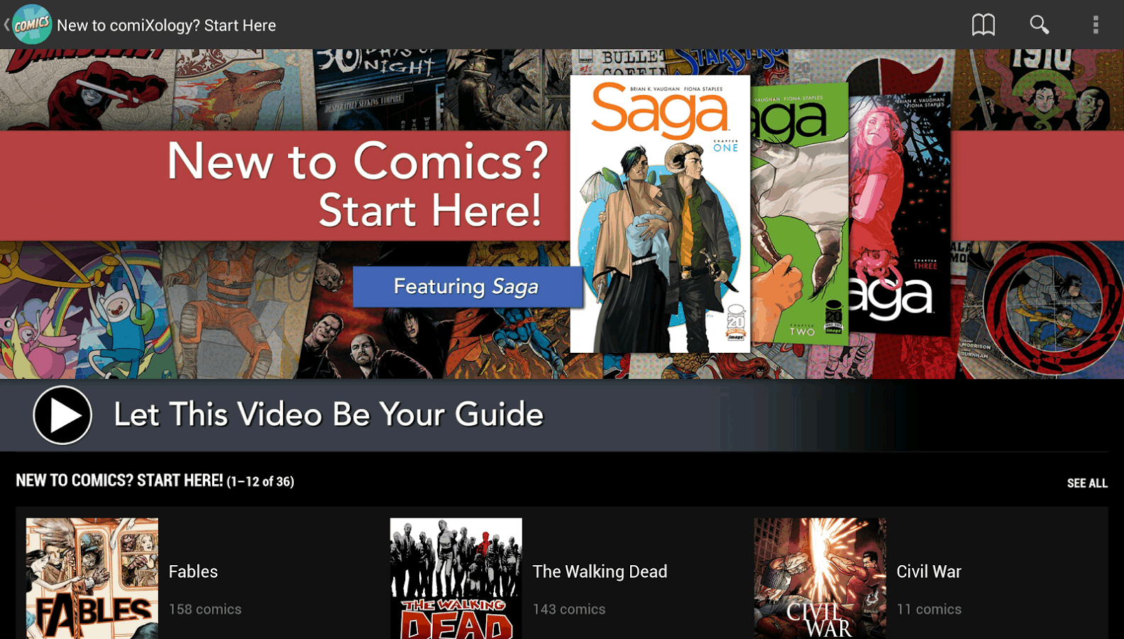 Comixology-app-Android