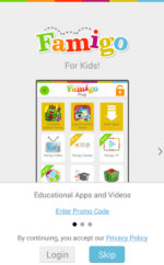 Famigo App for Child Menu 2