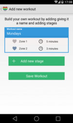 Heart Rate Training Wearable  App 2