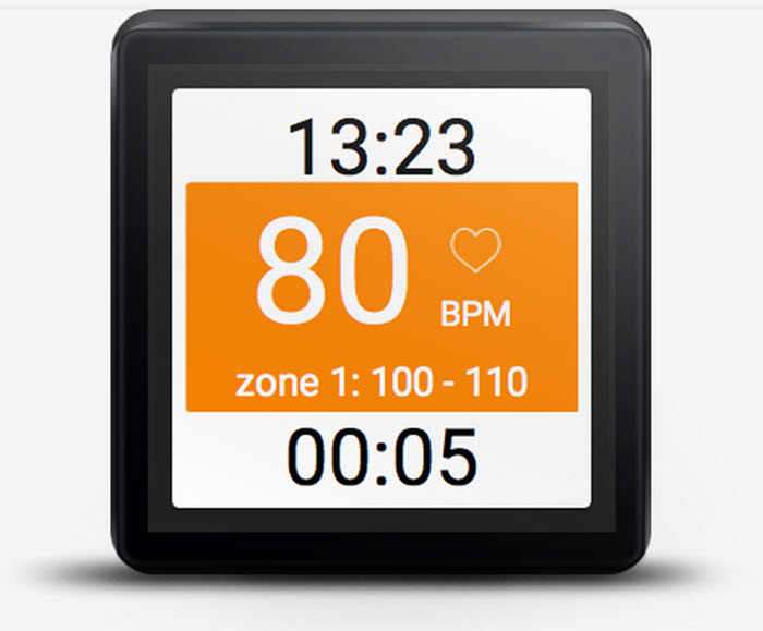 Heart Rate Training Wearable  App Main