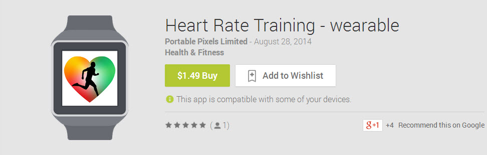 Heart Rate Training Wearable  App