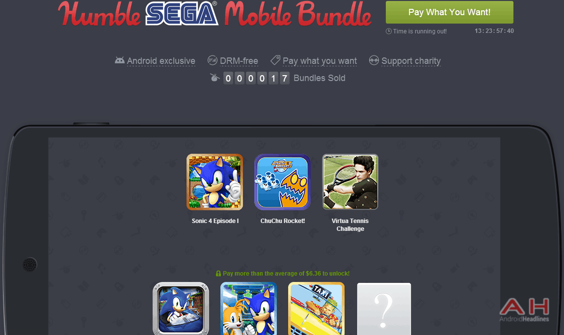 Humble SEGA Mobile Bundle Is Live, Get Six SEGA Classics And Help Charity