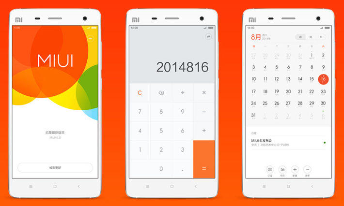 MIUI 6 Released in Beta for the Xiaomi Mi4 and Chinese Mi3 Models