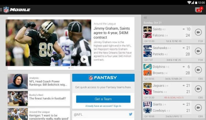 NFL Mobile Update Allows For Local Game Streaming For Verizon Premium And More Everything Customers