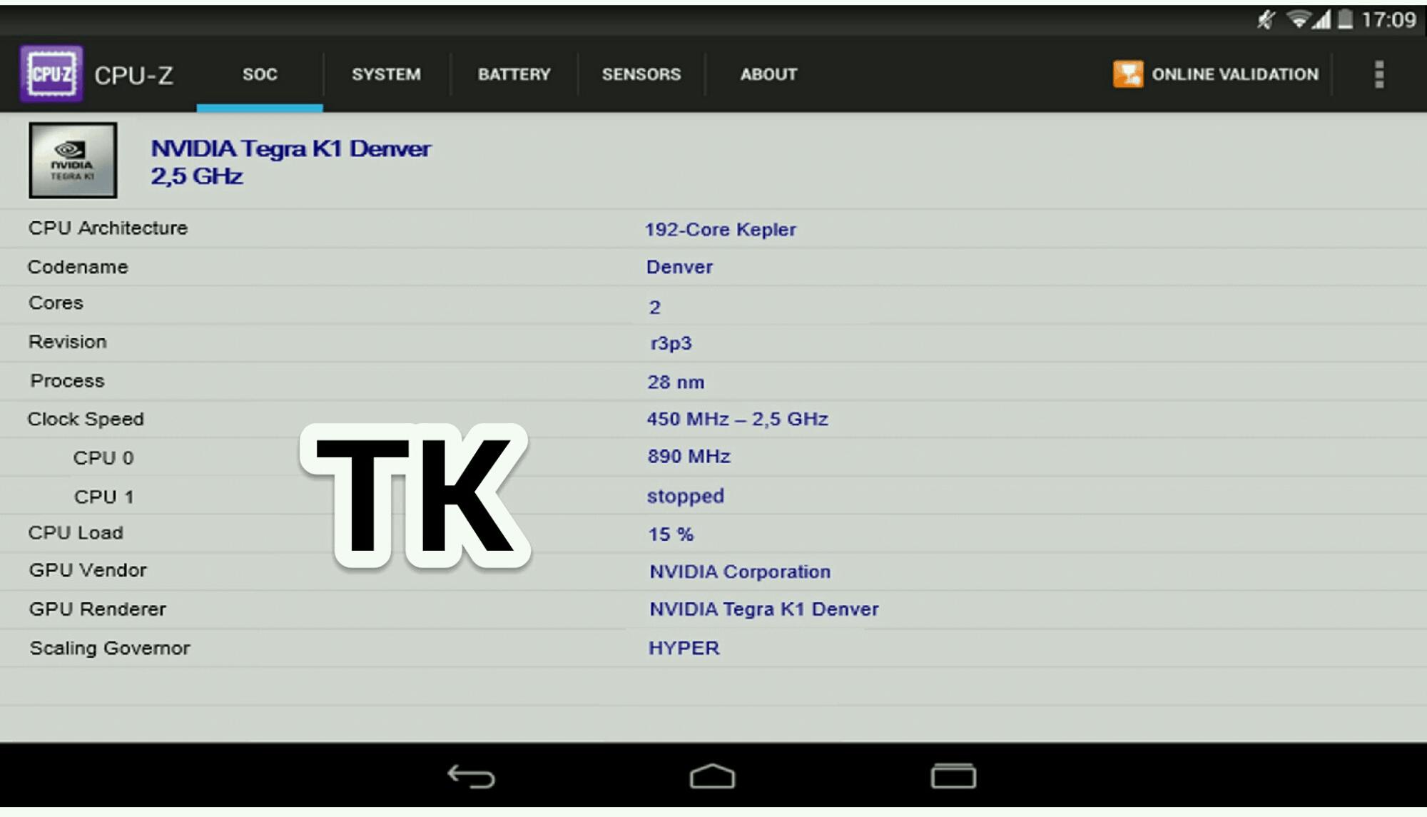 Nexus 9 Tegra K1 CPU-Z_