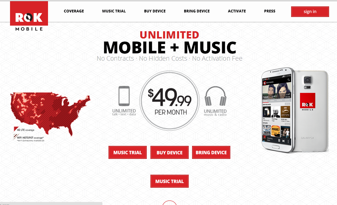 New Wireless Carrier ROK Mobile Offers Up Unlimited Mobile Plus Music For $50