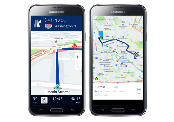 Nokia Bring HERE Maps Exclusively to Samsung Smartphones and the Gear S