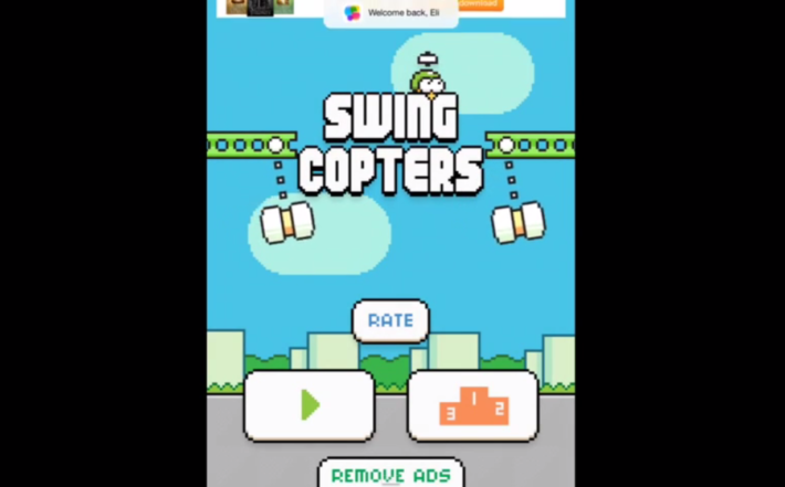 "Flappy Bird Creator Soon To Bring New Game ""Swing Copters"" To The Masses"