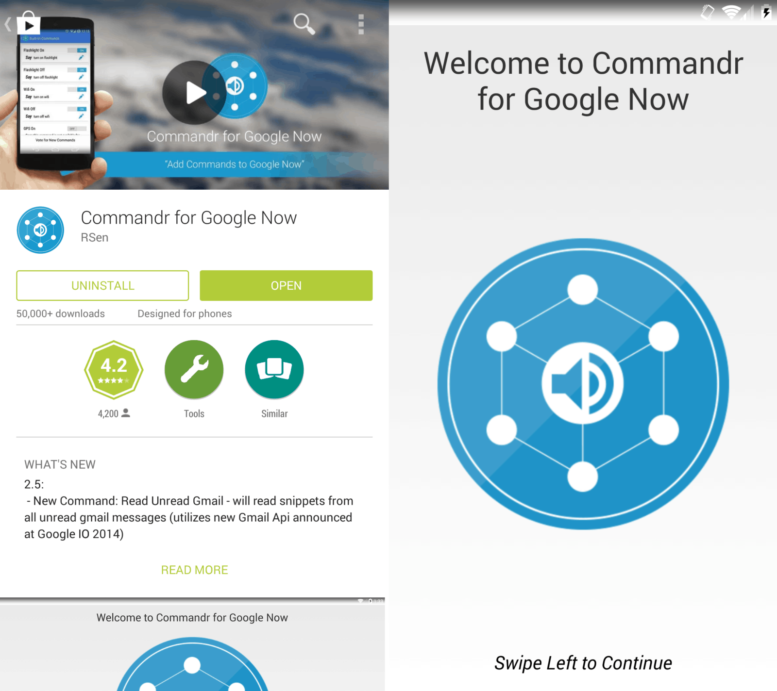 Commandr for Google Now