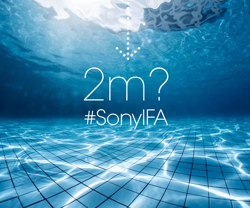 Sony UK waterproof teaser for IFA