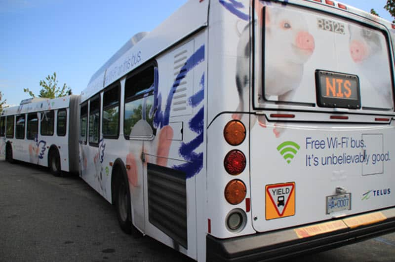 TELUS Wi-Fi on Buses in Vancouver