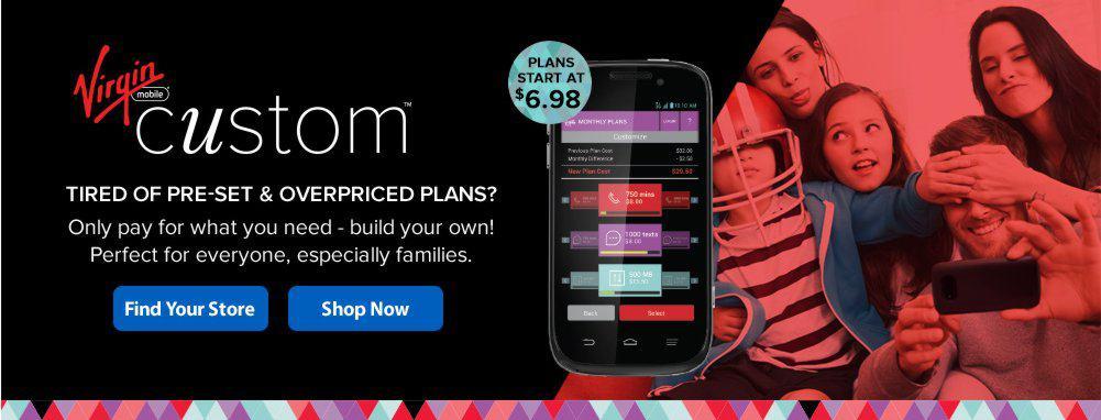 Virgin Custom Plans