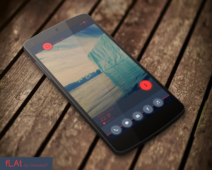 Top Android Homescreen August 1st Edition: Flat