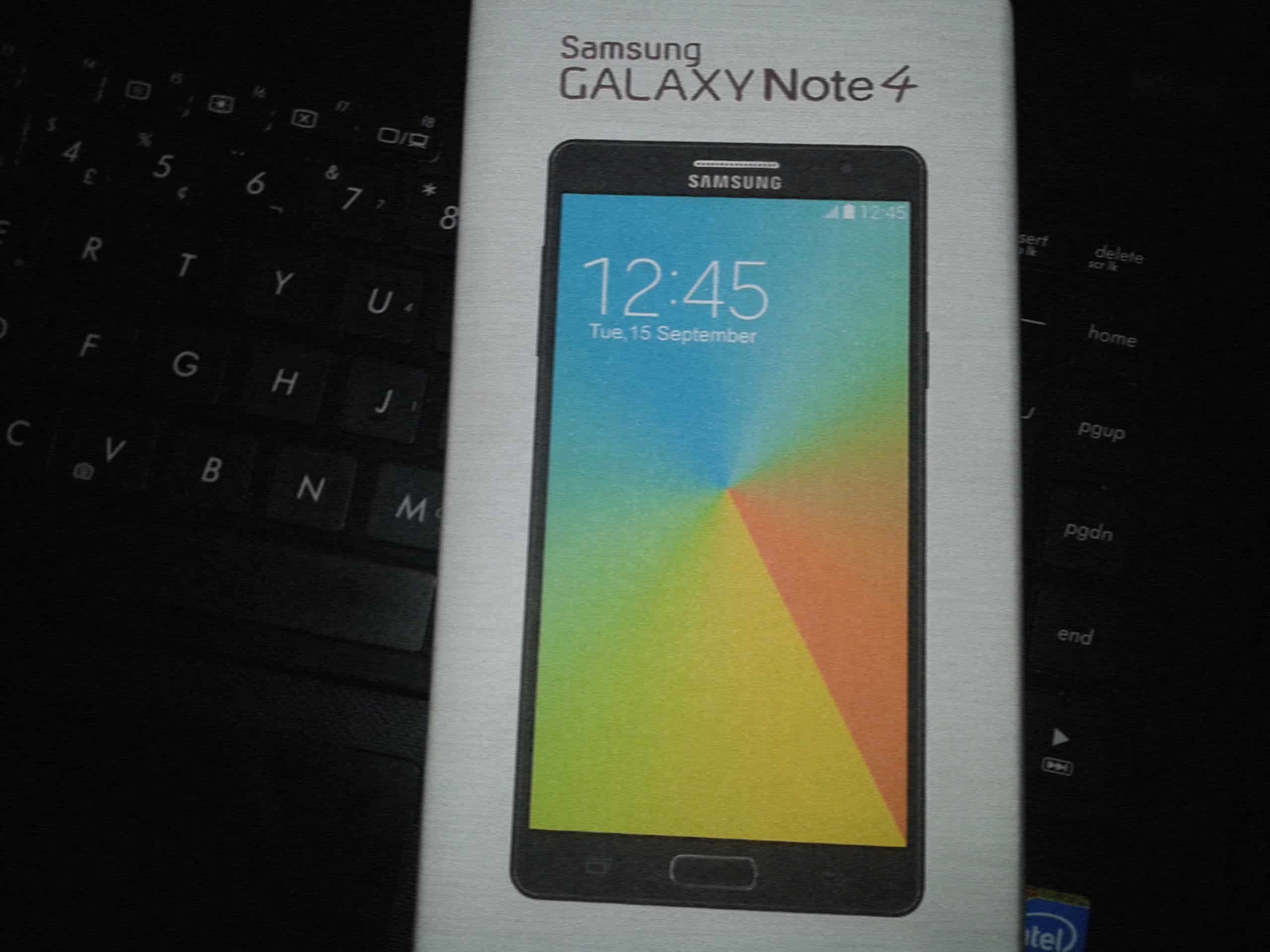 galaxy note 4 retail packaging leak