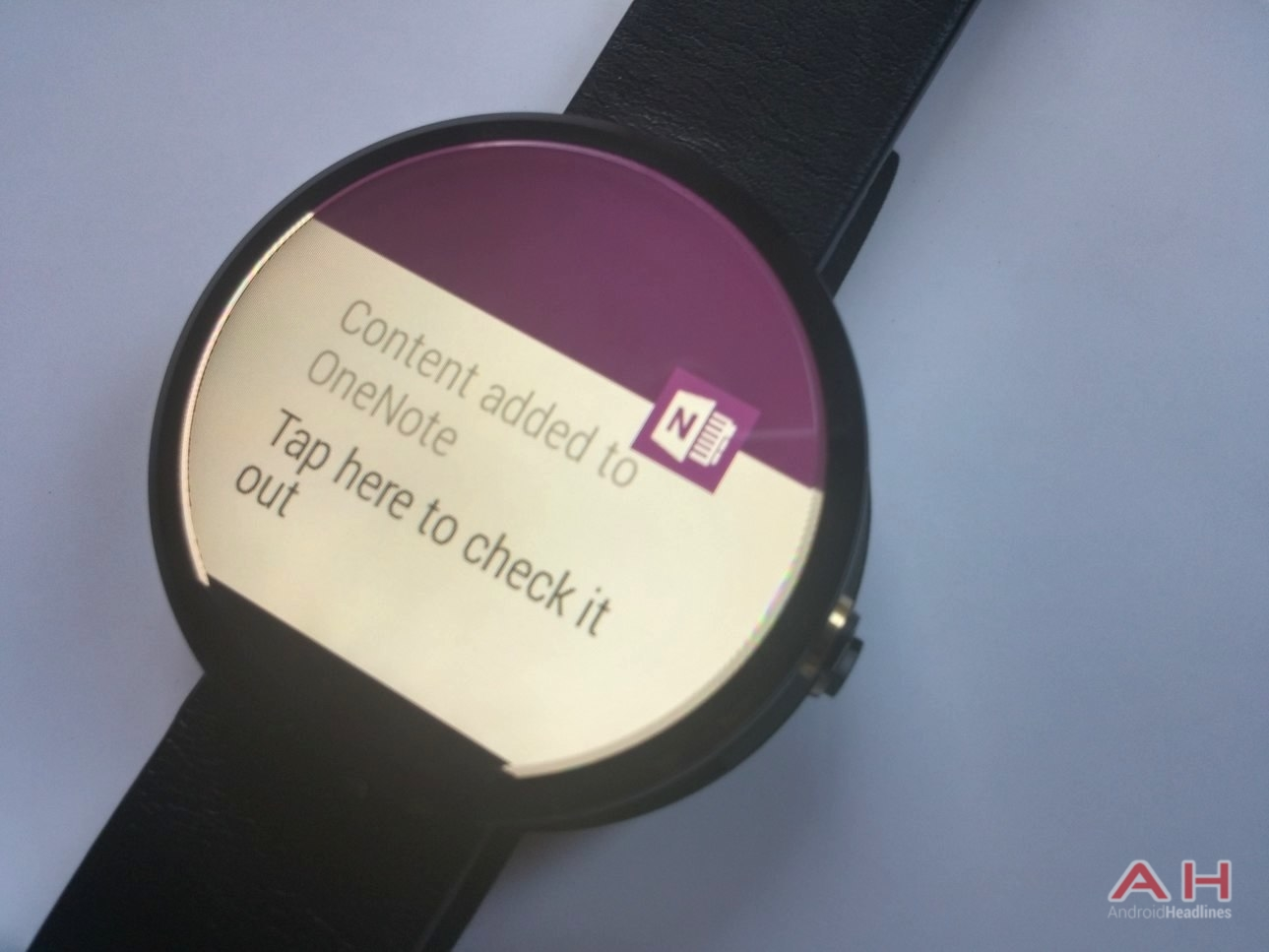 AH Android Wear One Note
