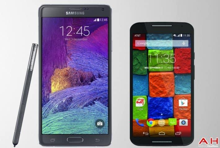 Phone Comparisons: Samsung Galaxy Note 4 vs Motorola Moto X 2014