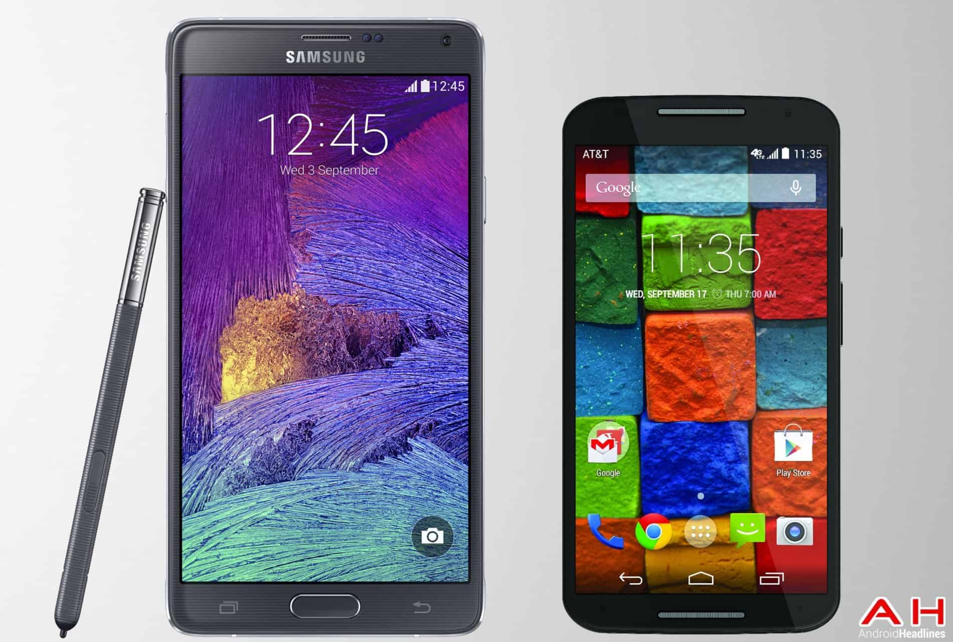 AH Moto X 2014 vs Samsung Galaxy Note 4