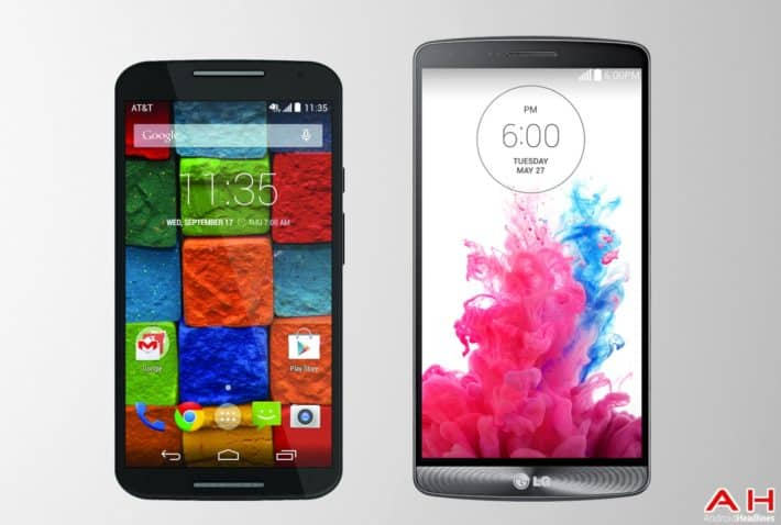 Phone Comparisons: Moto X (2014) vs LG G3