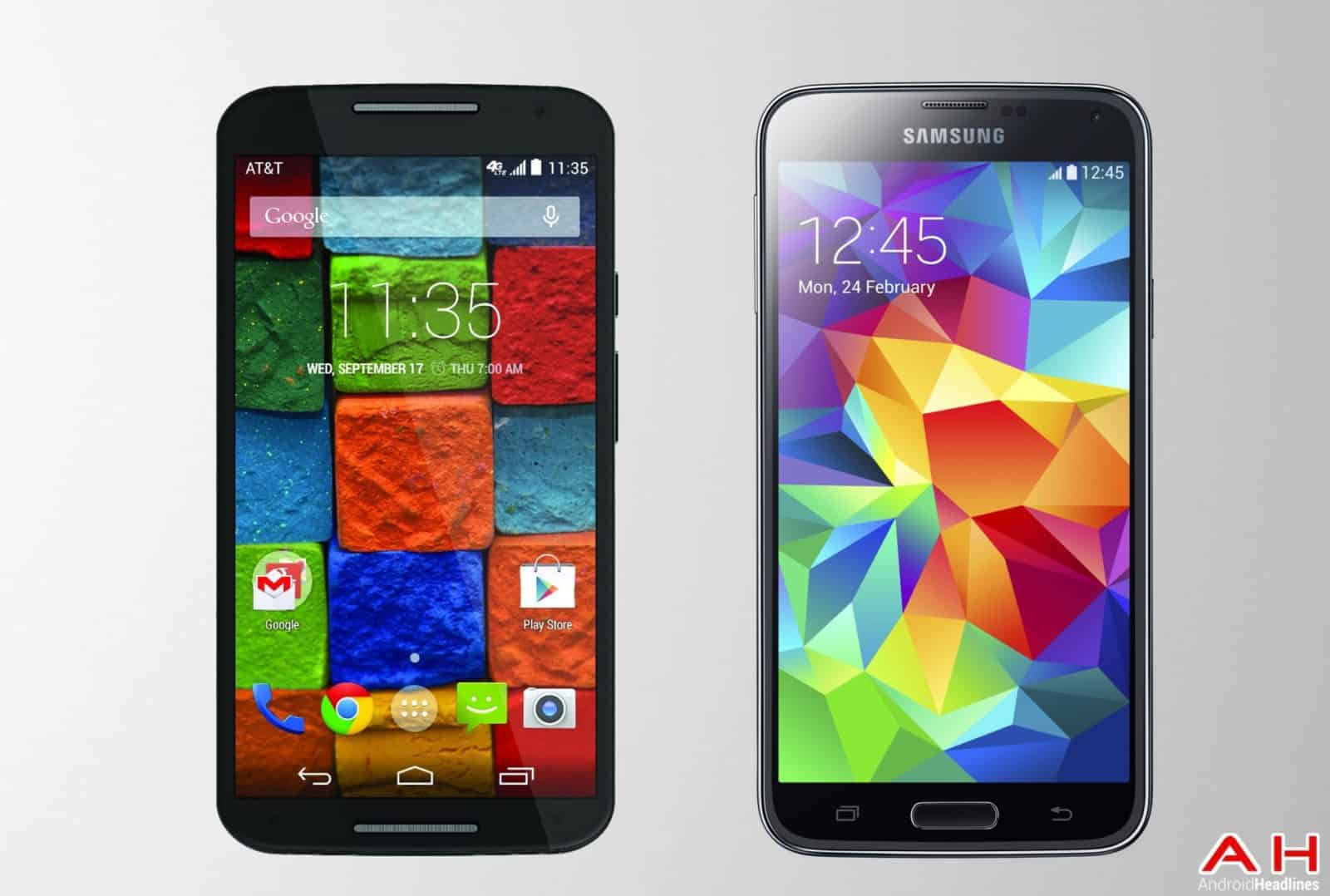 AH Motorola Moto X 2014 vs Samsung Galaxy S5