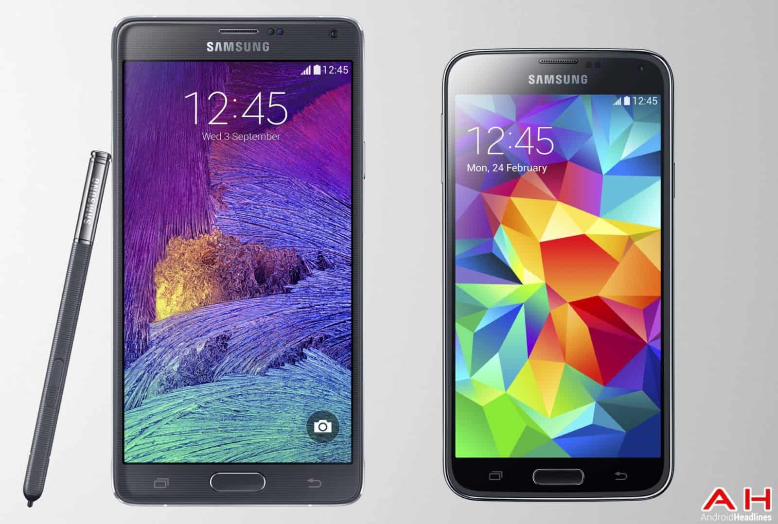 AH Samsung Galaxy Note 4 vs Samsung Galaxy S5