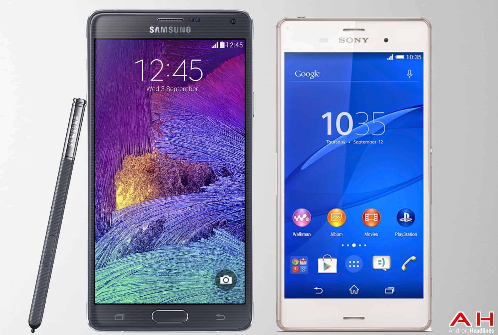 AH Samsung Galaxy Note 4 Vs Sony Xperia Z3 1