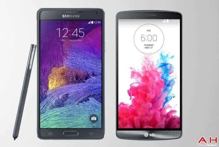Phone Comparisons: Samsung Galaxy Note 4 vs LG G3