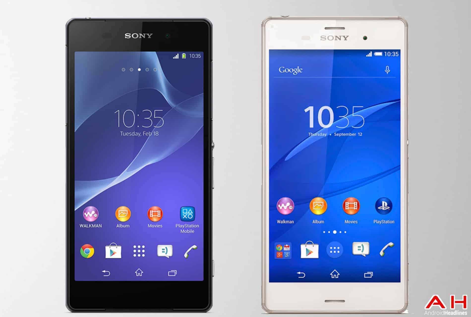 AH Sony Xperia Z2 vs Sony Xperia Z3