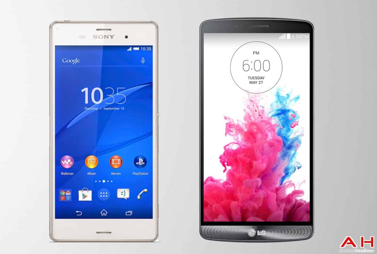 AH Sony Xperia Z3 vs LG G3