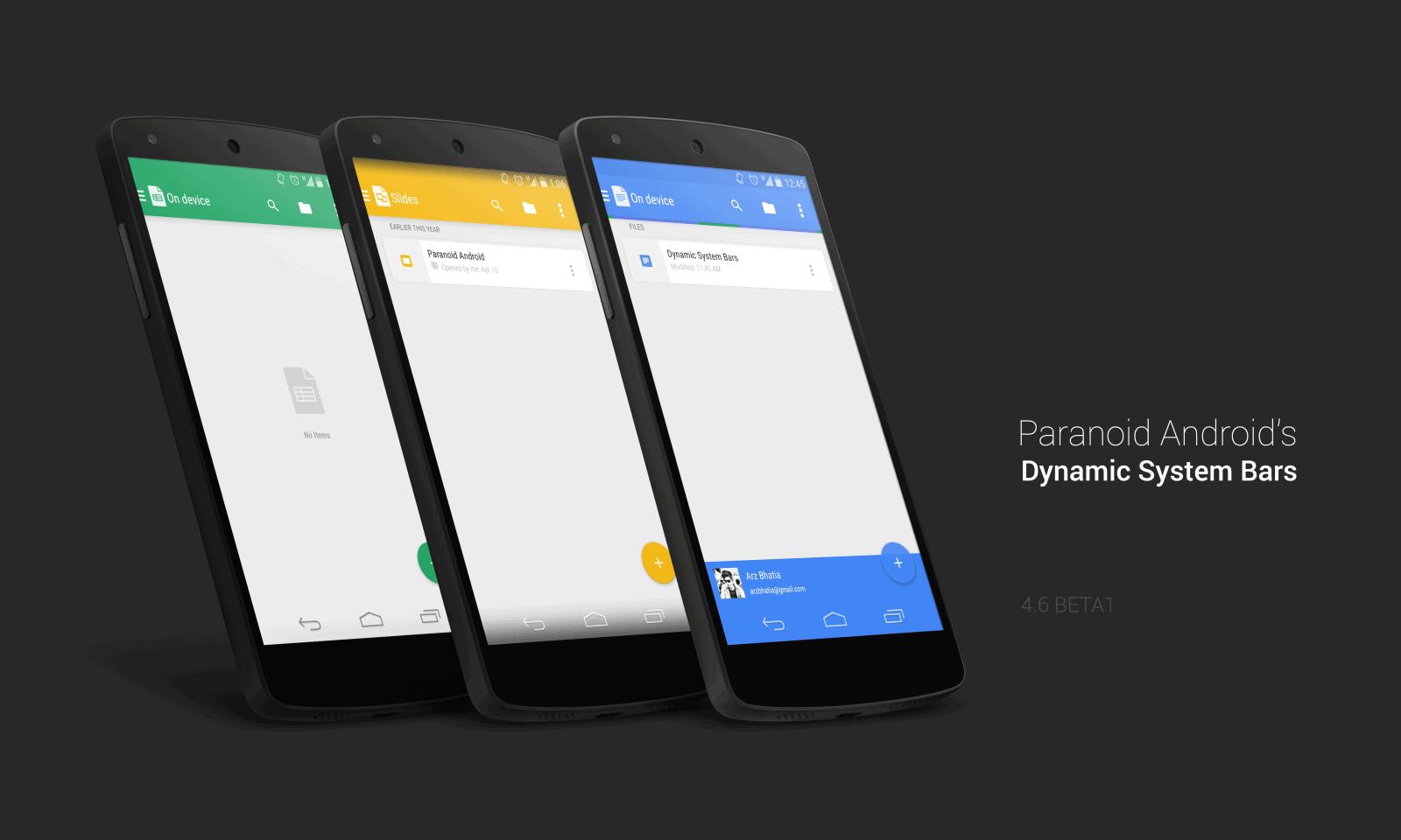 PA Dynamic System Bars