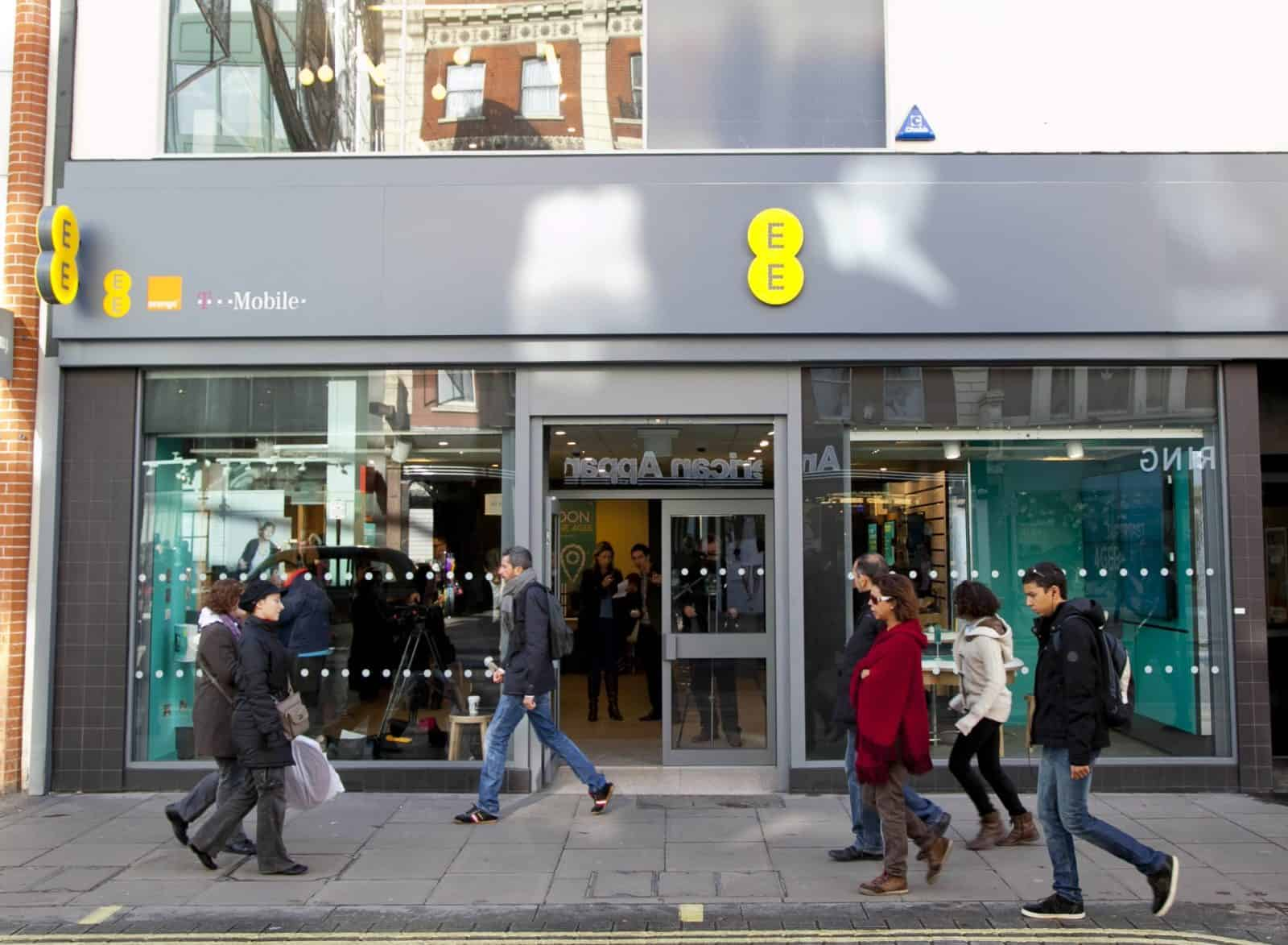 A general view of the flagship EE store on Oxford street during the 4G launch.