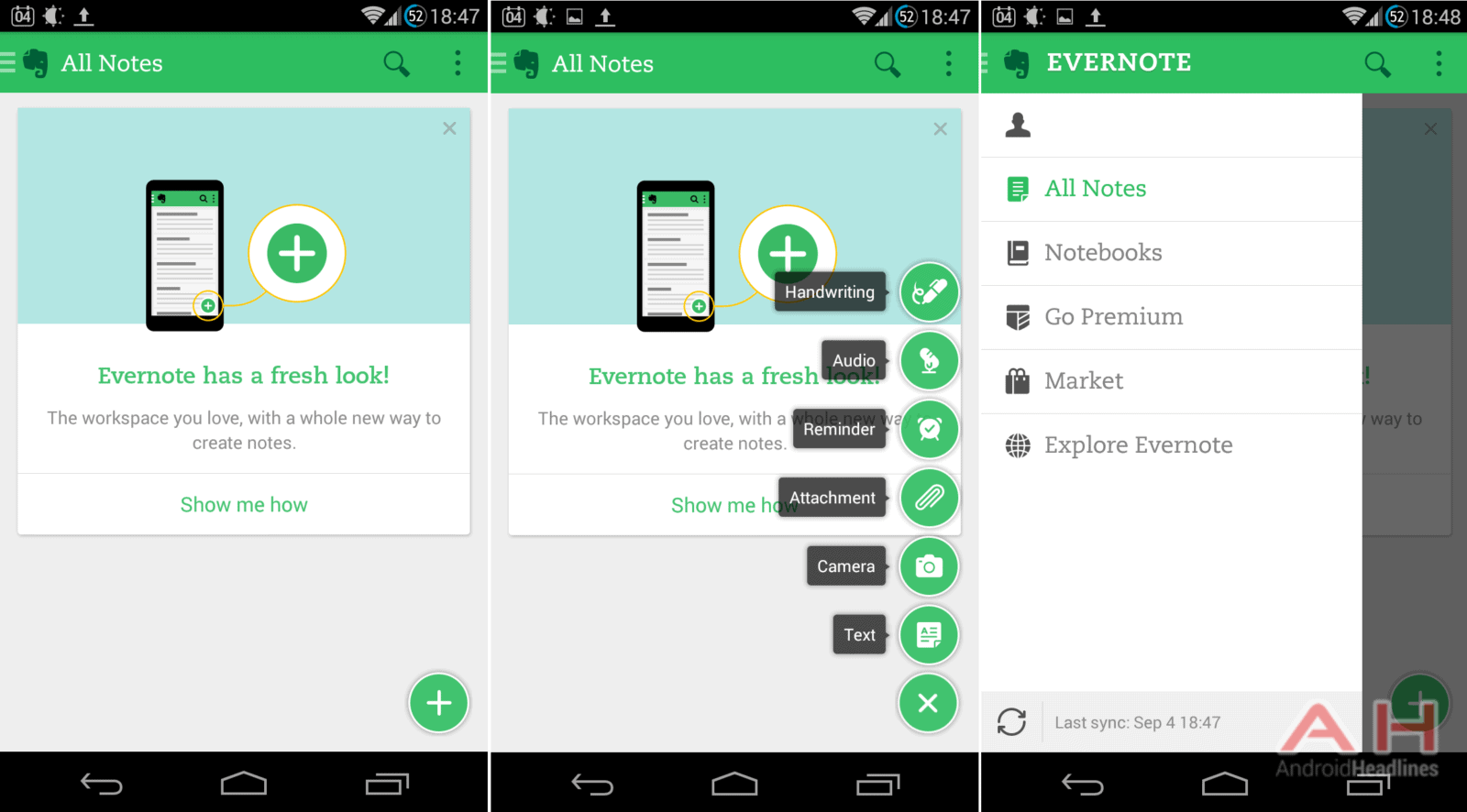 evernote gets the material design treatment along with new features rh androidheadlines com Android Phone Android Tutorial