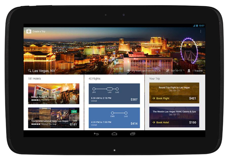 Expedia Tablet App Main