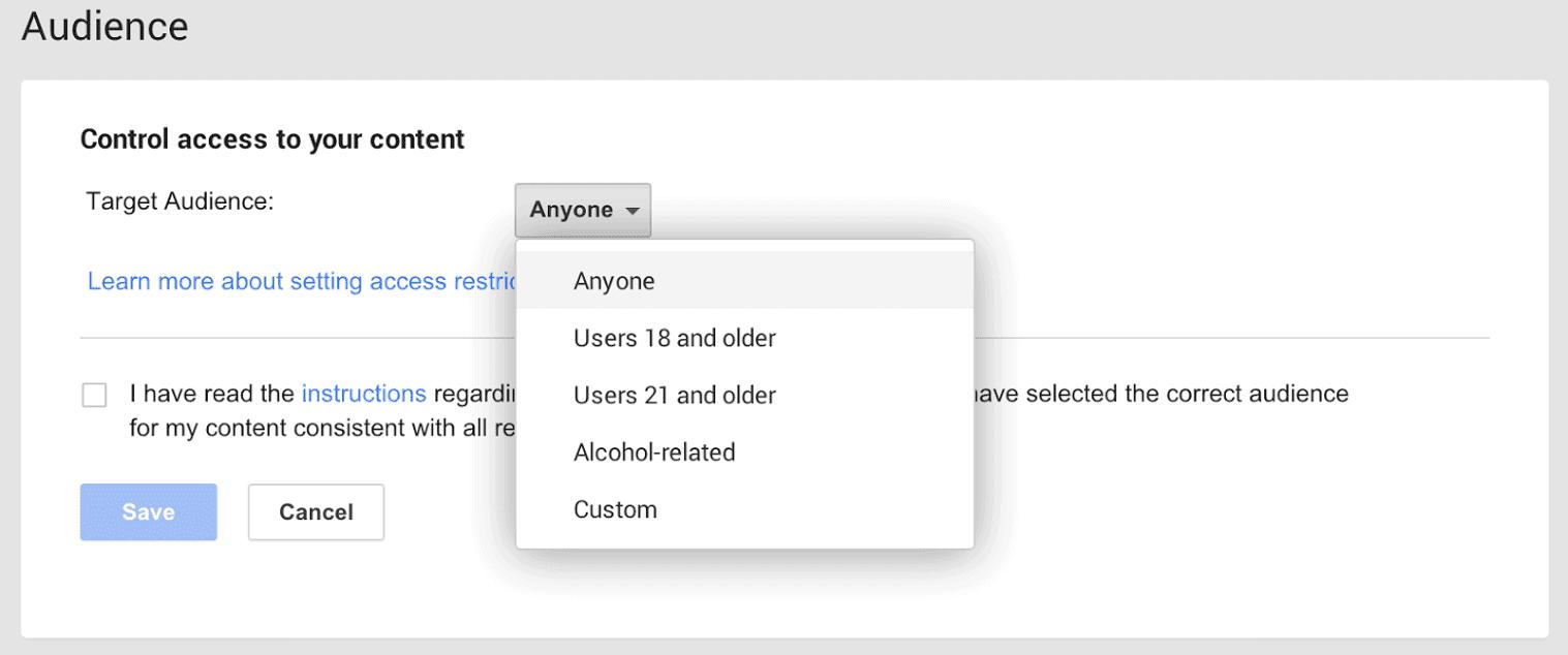 Google+ Restrictions