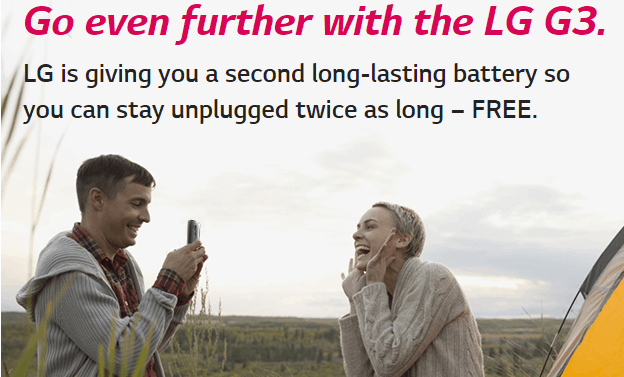 LG G3 promotion US