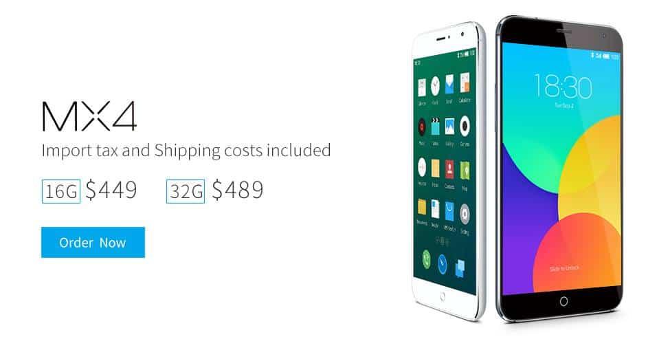 Meizu Facebook International Pricing