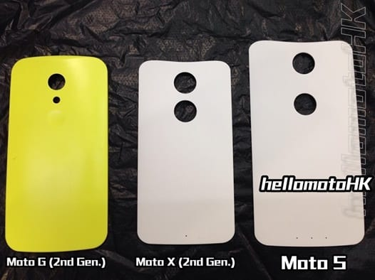 Moto S alleged back cover