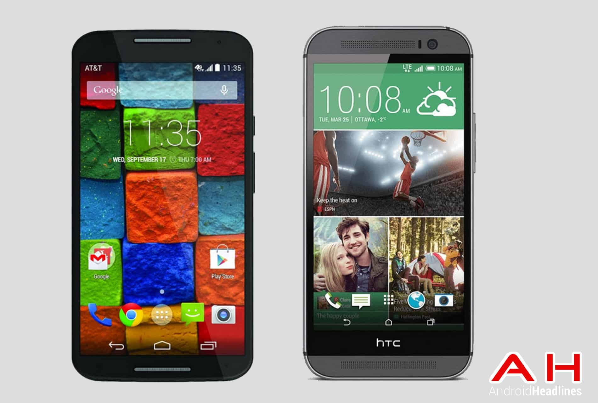 Moto X vs HTC One M8 1 AH