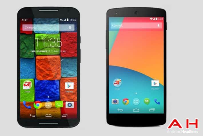 Phone Comparisons: Moto X (2014) vs Nexus 5