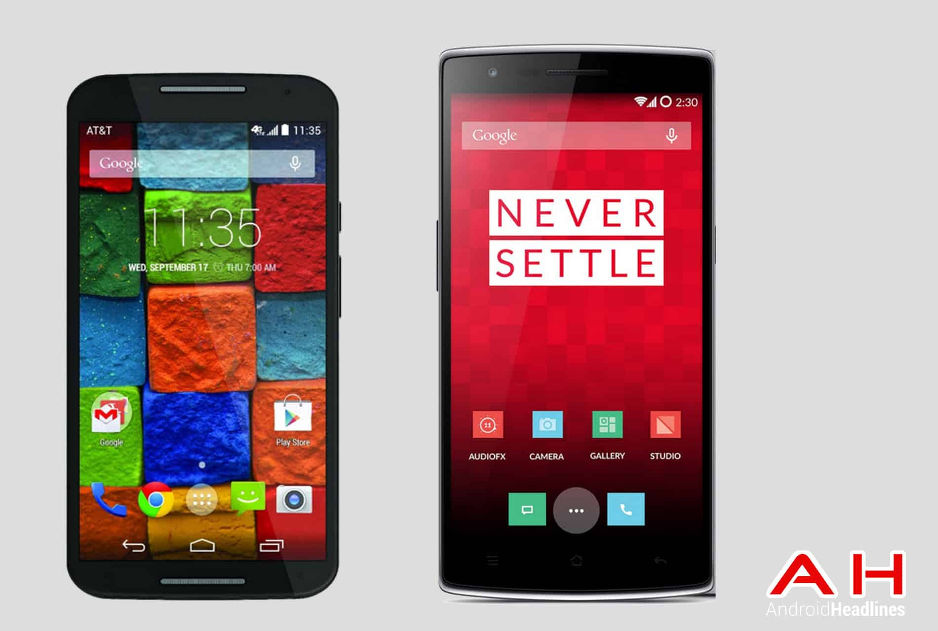 Moto X vs OnePlus One AH