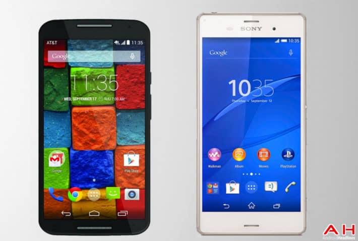 Phone Comparisons: Moto X (2014) vs Sony Xperia Z3