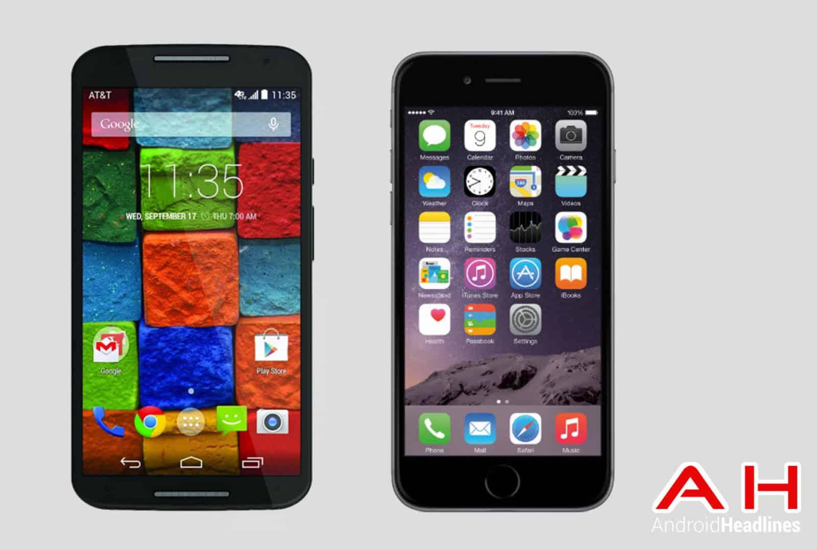 Moto X vs iPhone 6 AH