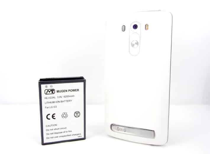 Give your LG G3 Twice the Battery Life with Mugen Power's 6200mAh Extended Battery