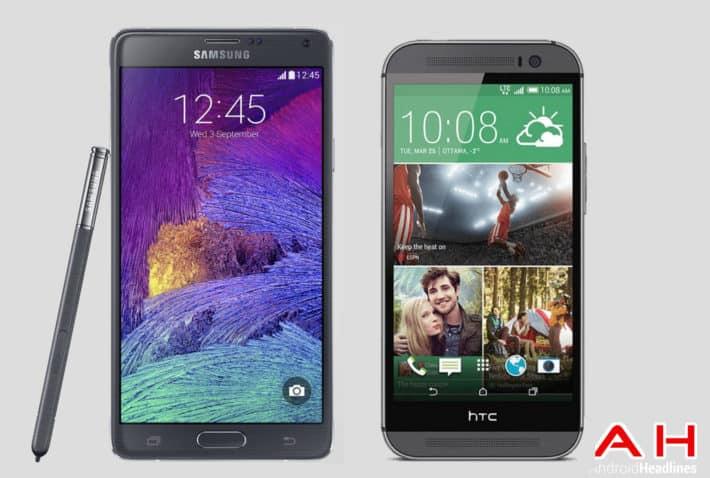 Phone Comparisons: Samsung Galaxy Note 4 vs HTC One M8