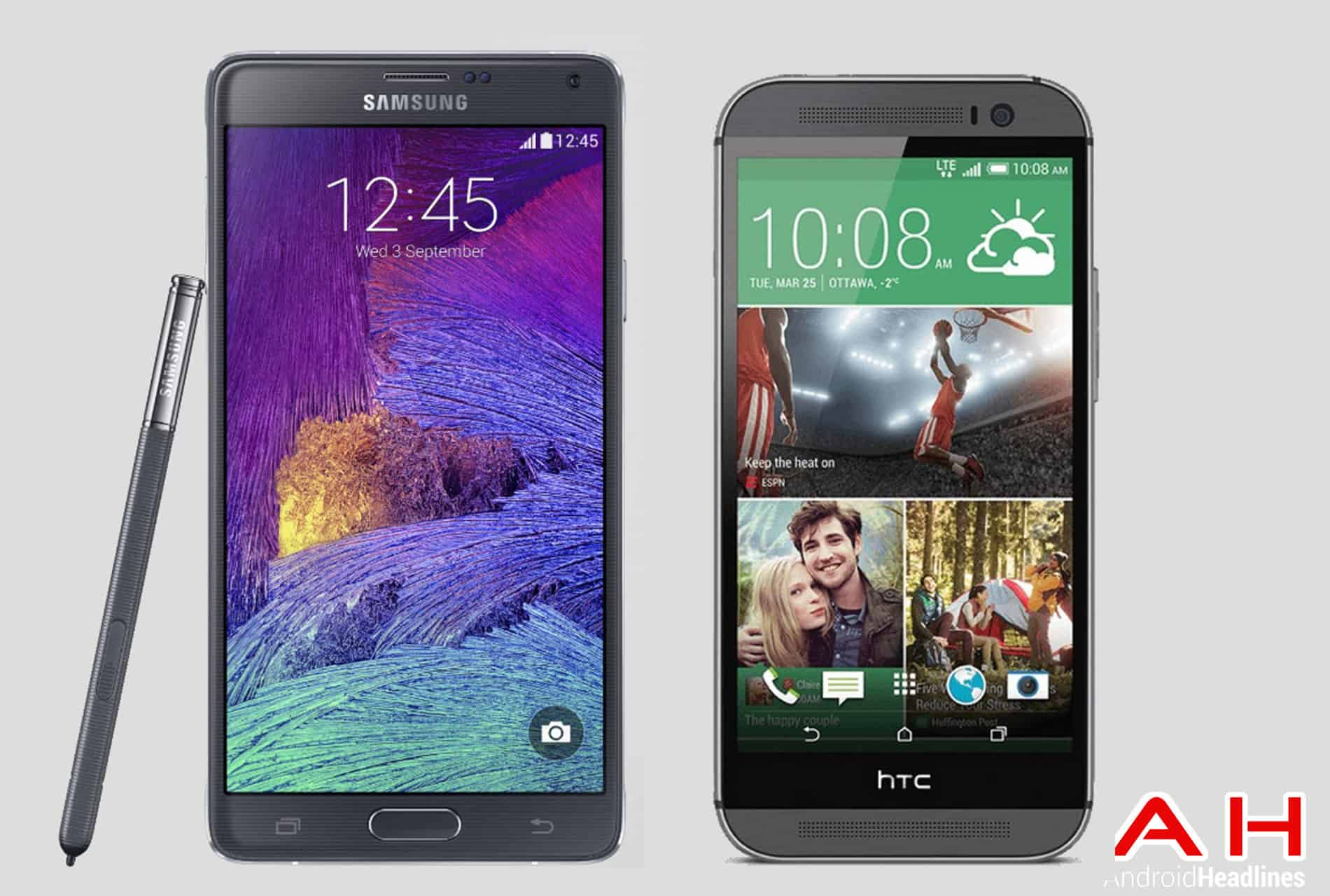 Note 4 vs Htc One m8 ah 2