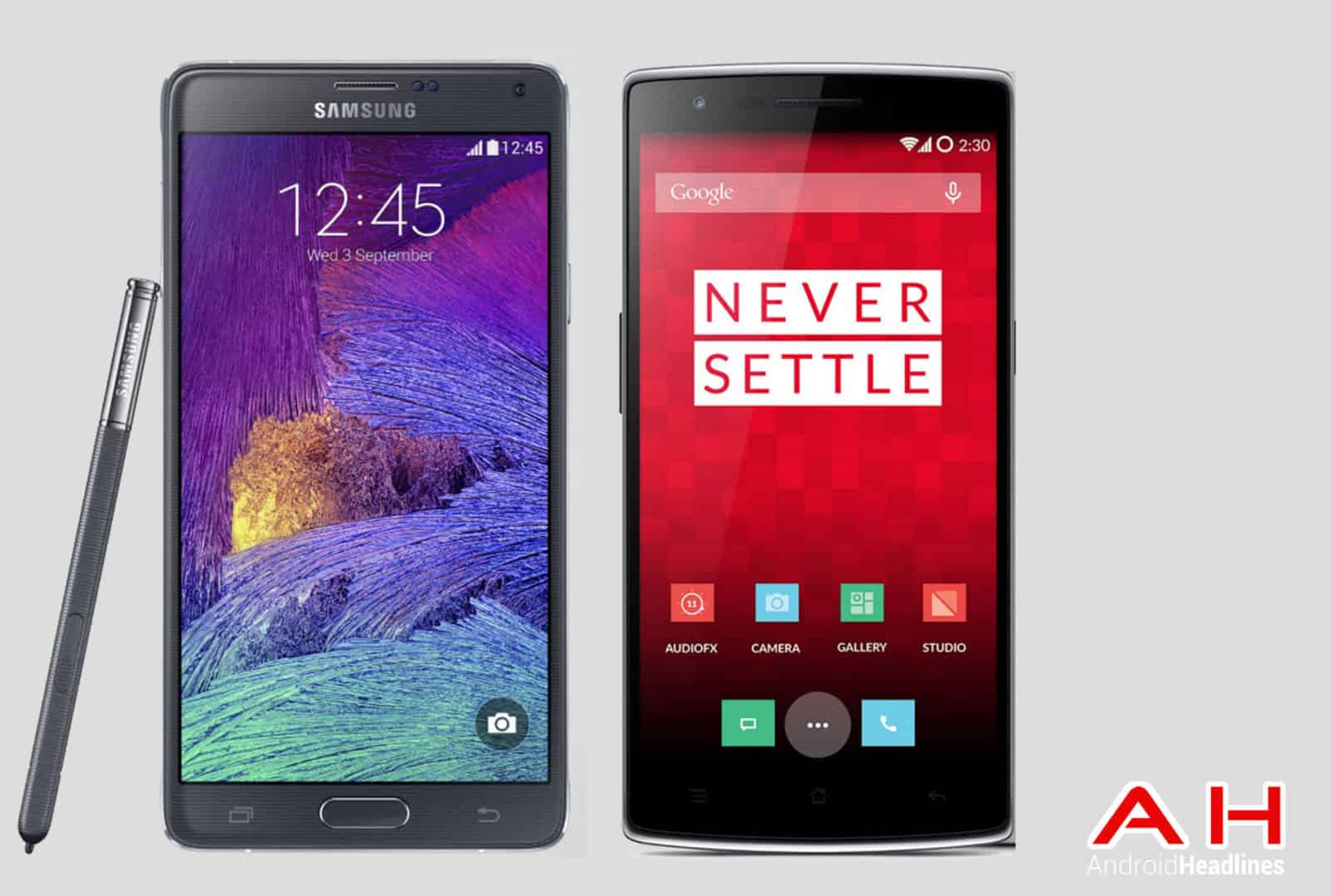 Note 4 vs OnePlus One AH
